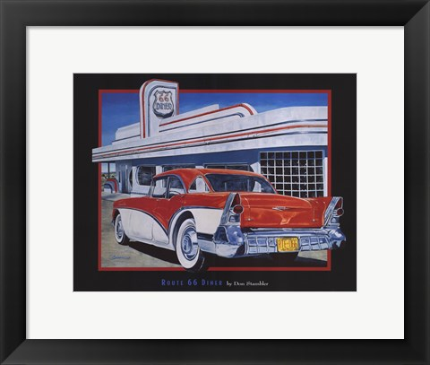 Framed Route 66 Diner Print
