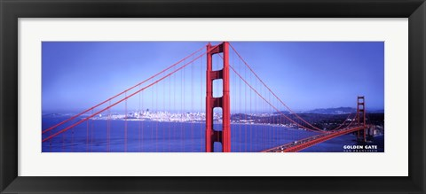 Framed S.F. Golden Gate Bridge Print