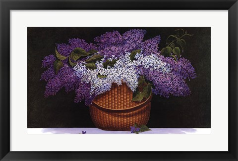 Framed Lilacs of Nantucket Print