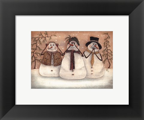 Framed Hear No Evil, See No Evil Print