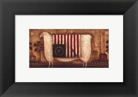 Framed Betsy of Ross County Print