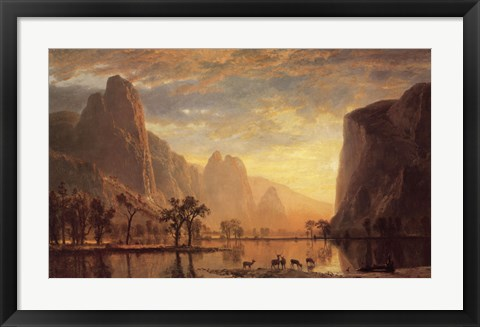 Framed Valley of the Yosemite Print