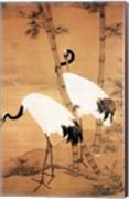 Bian Jingzhao Bamboo and Cranes