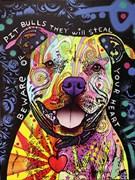 Beware of Pitbulls Artist Proof 12/25