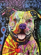 Beware of Pitbulls Artist Proof 13/25