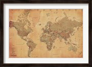 Map of the World, vintage (mercator projection)
