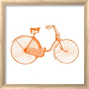 Orange On White Bicycle