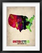 USA Watercolor Map II