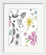 Tribal Giraffe Portrait