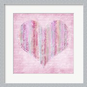 Striped Pink Heart