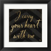 Chevron Sentiments Black/Gold I