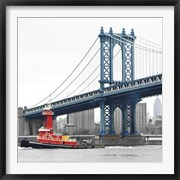 Manhattan Bridge with Tug Boat