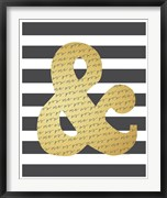 Faux Gold Ampersand