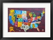 License Plate Map USA IV