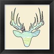 Deer Teal Green