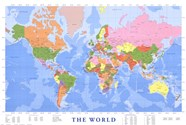 Map of The World (mercator projection)