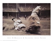 Joe DiMaggio Sliding Into Third