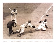 Jackie Robinson Stealing Home, May 15, 1952  Fine-Art Print