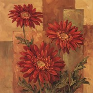 Daisies Terra Cotta  Fine-Art Print