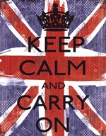 Keep Calm And Carry On  Fine-Art Print