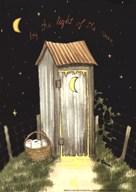 Moon Outhouse  Fine-Art Print