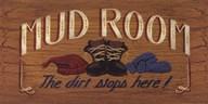 Mud Room sign  Fine-Art Print