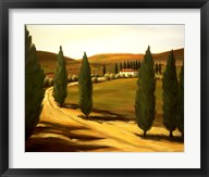 Along a Tuscan Road  Frame