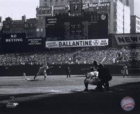 Framed Don Larsen - Perfect Game - 1st Pitch