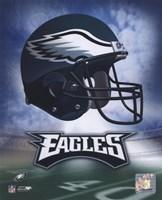 Framed Philadelphia Eagles Helmet Logo