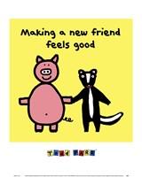 Framed Making a New Friend Feels Good