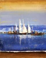 Framed Blue Ocean II