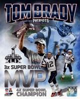 Framed Tom Brady Super Bowl XLIX MVP Portrait Plus