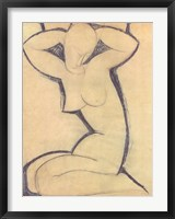 Framed Cariatide - nude