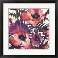 Framed Summer Poppies III