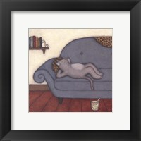 Lounging Cat Framed Print