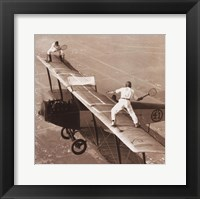 Framed Tennis on the Wing