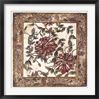 Framed Zinnia Tapestry