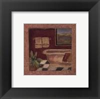 Bath Retreat II Framed Print