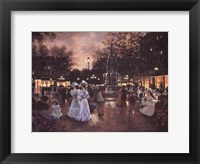 Meeting at the Fountain Framed Print
