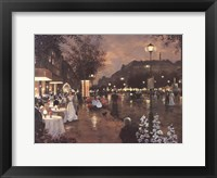 Evening Street Scene Framed Print