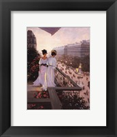 On the Balcony Framed Print