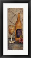 Framed Wine Tasting Tuscanny I