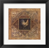 Framed Classic Rooster I