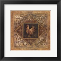 Framed Classic Rooster II