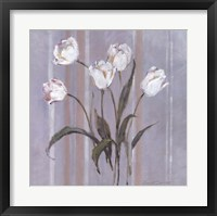 Framed Stipes and Tulips