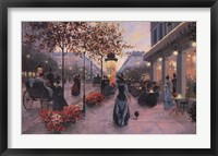 Strolling on the Avenue Framed Print