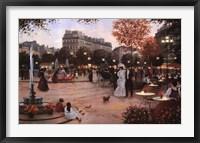 Parisian Promenade Framed Print
