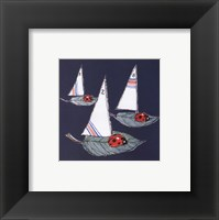 Midnight Ladybug Regatta Framed Print