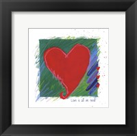 Love - heart Framed Print
