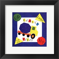 Cement Mixer Framed Print